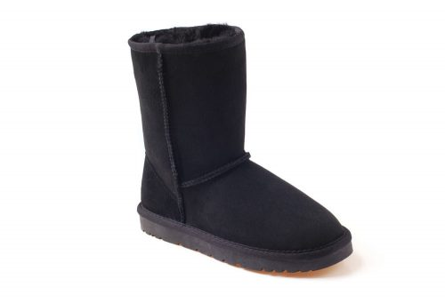 Ozwear Genuine Sheepskin 3/4 Boots - Women's - black, 5.5-6