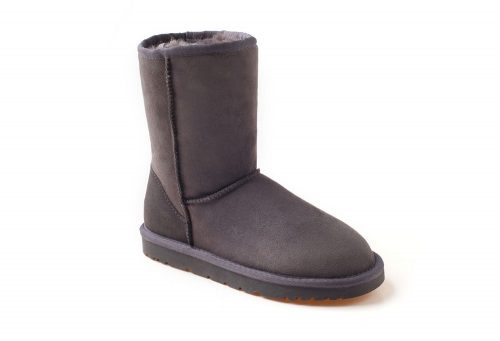 Ozwear Genuine Sheepskin 3/4 Boots - Women's - charcoal, 6.5-7