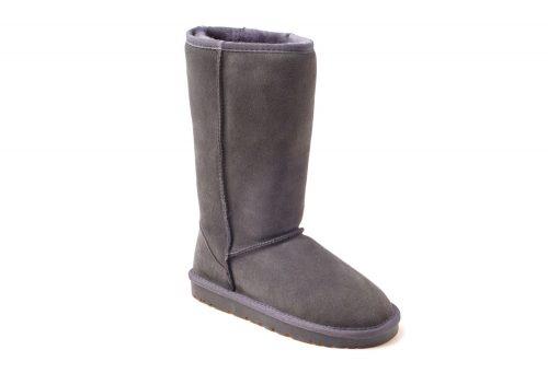 Ozwear Genuine Sheepskin Tall Boots - Women's - charcoal, 5.5-6