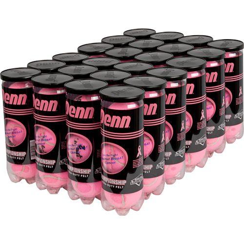 Penn Championship Pink Extra Duty 24 Cans: Penn Tennis Balls