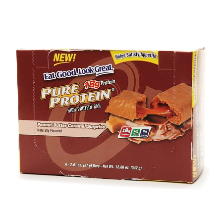 Pure Protein High Protein Snack Bar Peanut Butter Caramel Surprise - 2.01 oz.