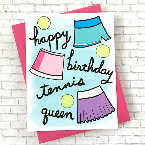 Racquet Smash Birthday Card: Racquet Smash Tennis Gifts & Novelties