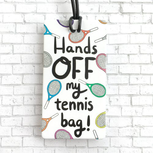 Racquet Smash Luggage Tag: Racquet Smash Tennis Gifts & Novelties