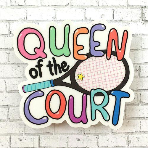 Racquet Smash Vinyl Sticker: Racquet Smash Tennis Gifts & Novelties