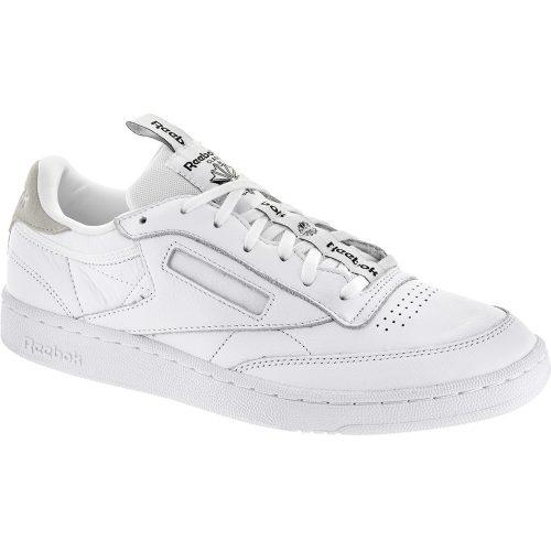Reebok Club C 85 IT: Reebok Men's Tennis Shoes White/Skull Grey/Black