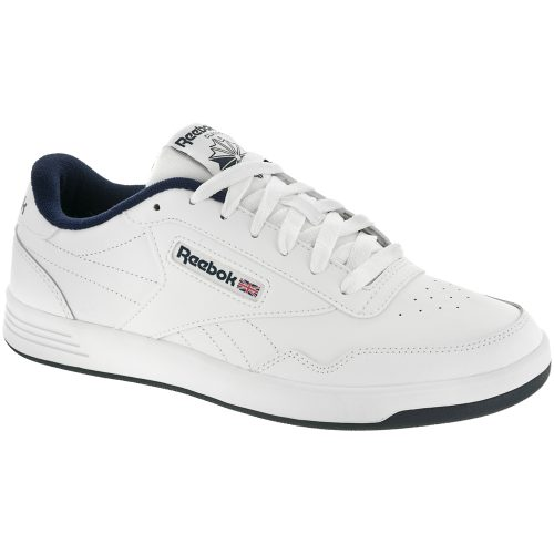 Reebok Club MEMT: Reebok Men's Tennis Shoes White/Collegiate Navy