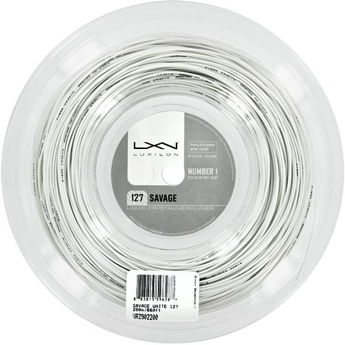 Reel - Luxilon Savage White 127 660: Luxilon Tennis String Reels