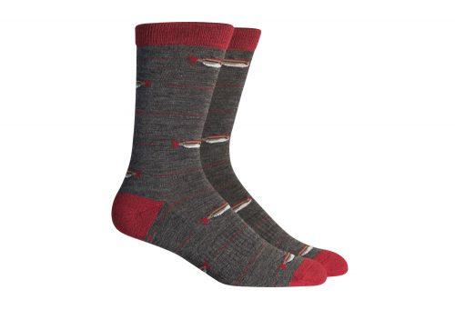 Richer Poorer Angler Hiking Socks - charcoal/red, one size