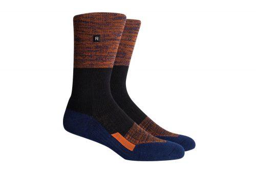 Richer Poorer Statik Athletic Socks - navy/brown, one size