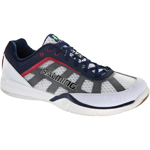 Salming Viper 2.0: Salming Men's Indoor, Squash, Racquetball Shoes White/Navy