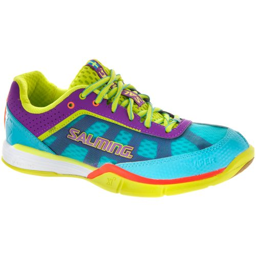 Salming Viper 3: Salming Women's Indoor, Squash, Racquetball Shoes Turquoise/Cactus Flower