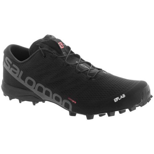 Salomon S-Lab Speed 2: Salomon Men's Running Shoes Black/Racing Red/White