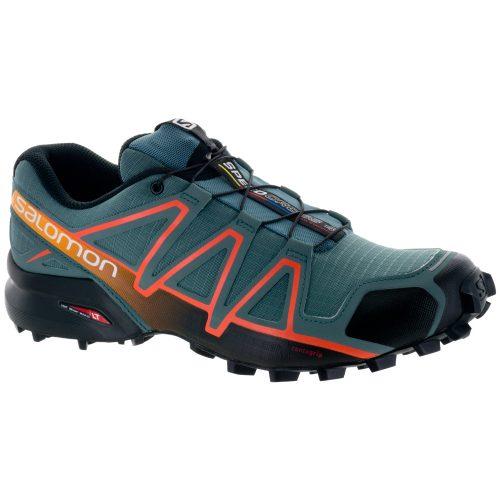 Salomon Speedcross 4: Salomon Men's Running Shoes North Atlantic/Black/Scarlet Ibis