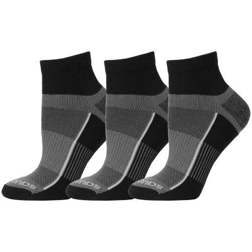 Saucony Inferno Quarter Socks 3 Pack: Saucony Socks
