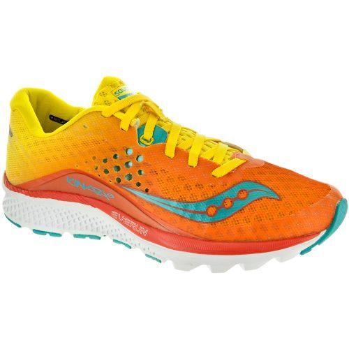 Saucony Kinvara 8: Saucony Women's Running Shoes Orange/Yellow/Blue
