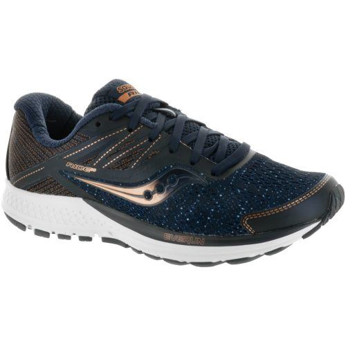 Saucony Ride 10: Saucony Women's Running Shoes Navy/Denim/Copper