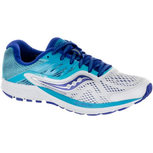Saucony Ride 10: Saucony Women's Running Shoes White/Blue