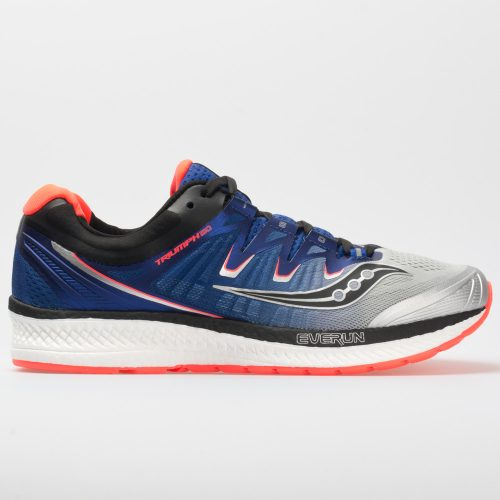 Saucony Triumph ISO 4: Saucony Men's Running Shoes Silver/Blue/ViZiRed