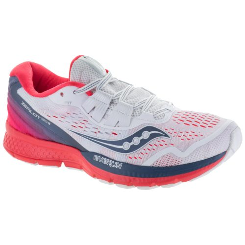 Saucony Zealot ISO 3: Saucony Women's Running Shoes White/Grey/ViZi Red