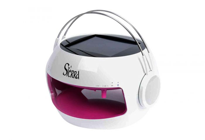 Sierra Solar Charging Bluetooth Wireless Speaker - pink, one size