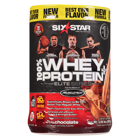 Six Star Elite Series Whey Protein+ Dietary Supplement Powder Triple Chocolate - 2 lb