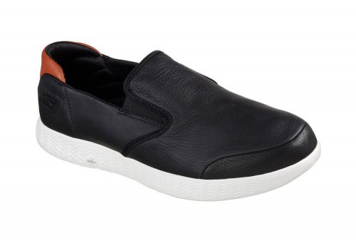 Skechers Leather Slip Ons - Men's - black, 11