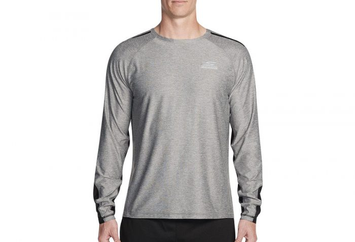 Skechers Sprint Long Sleeve Shirt - Men's - charcoal, medium