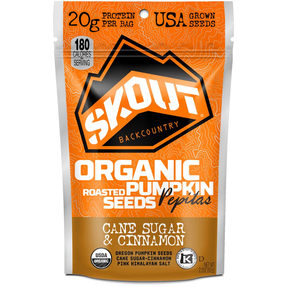 Skout Backcountry Organic Pumpkin Seeds (Box of 6): Skout Backcountry Nutrition