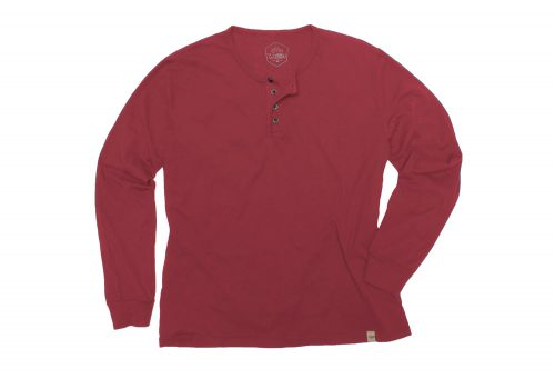 Wilder & Sons Classic Henley Long Sleeve Shirt - Men's - burgundy, small