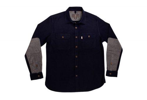 Wilder & Sons Gorge Chamois Shirt - Men's - navy / grey, small
