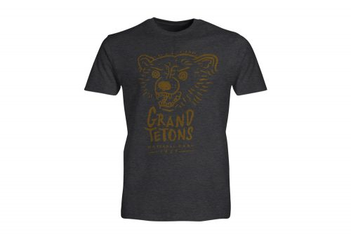 Wilder & Sons Grand Teton National Park Short Sleeve T-Shirt - Men's - charcoal heather, small