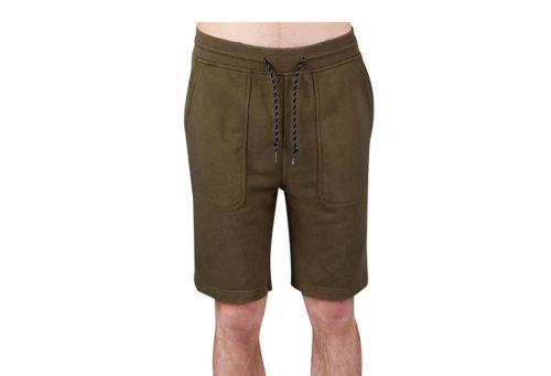 Wilder & Sons Sandy Fleece Shorts - Men's - military olive, large