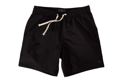 "Wilder & Sons Seaside Volley 6"" Shorts - Men's - black, large"