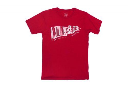 Wilder & Sons Wilder Banner T-Shirt - Men's - solid red, medium