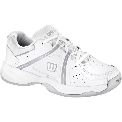 Wilson Envy Junior White/Pearl Gray: Wilson Junior Tennis Shoes
