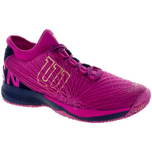Wilson Kaos 2.0 SFT: Wilson Women's Tennis Shoes Very Berry/Evening Blue/Sunny Lime