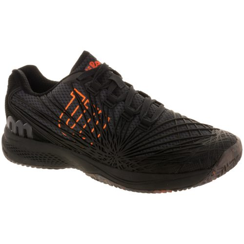 Wilson Kaos 2.0: Wilson Men's Tennis Shoes Ebony/Black/Shocking Orange