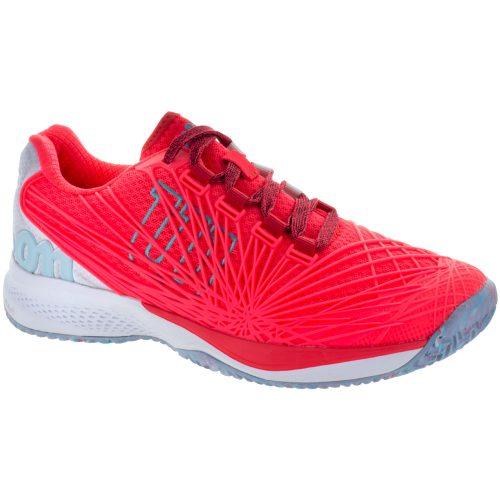 Wilson Kaos 2.0: Wilson Women's Tennis Shoes Firey Coral/White/Blue Curacao