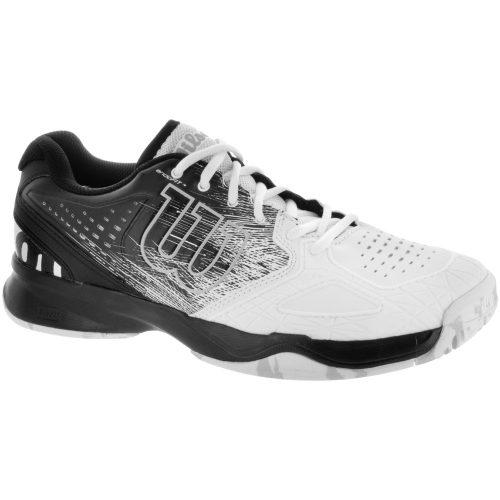 Wilson Kaos Comp: Wilson Men's Tennis Shoes Black/White/Pearl Blue