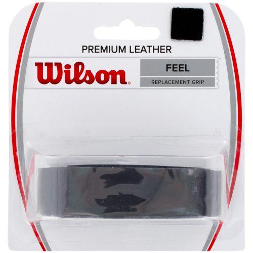 Wilson Premium Leather Replacement Grip Black: Wilson Tennis Overgrips