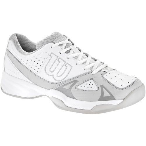 Wilson Rush Open 2.0: Wilson Men's Tennis Shoes White/Steel Gray/Cool Gray