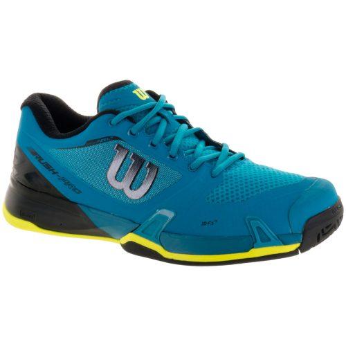 Wilson Rush Pro 2.5 Enamel: Wilson Men's Platform Tennis Shoes Blue/Black/Safety Yellow