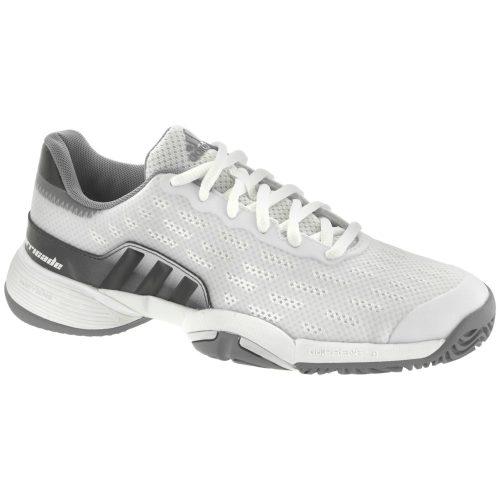 adidas Barricade 2017 Junior White/DGH Solid Grey: adidas Junior Tennis Shoes
