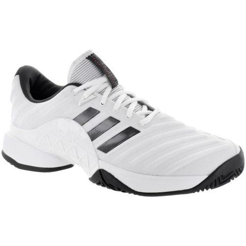 adidas Barricade 2018: adidas Men's Tennis Shoes White/Core Black/Matte Silver
