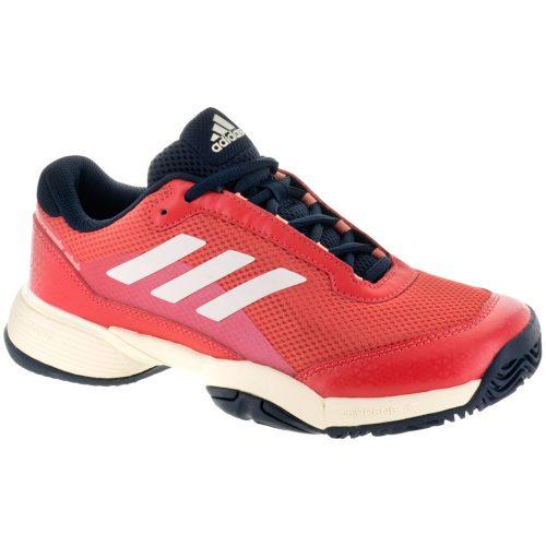 adidas Barricade Club Junior Night Navy/Ecru Tint/Trace Scarlet: adidas Junior Tennis Shoes