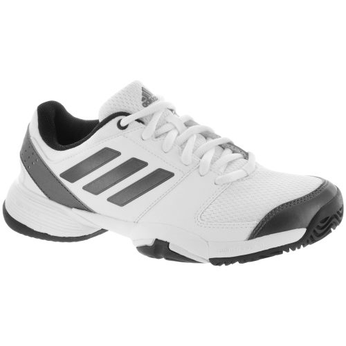adidas Barricade Club Junior White/Night Metallic/Black: adidas Junior Tennis Shoes