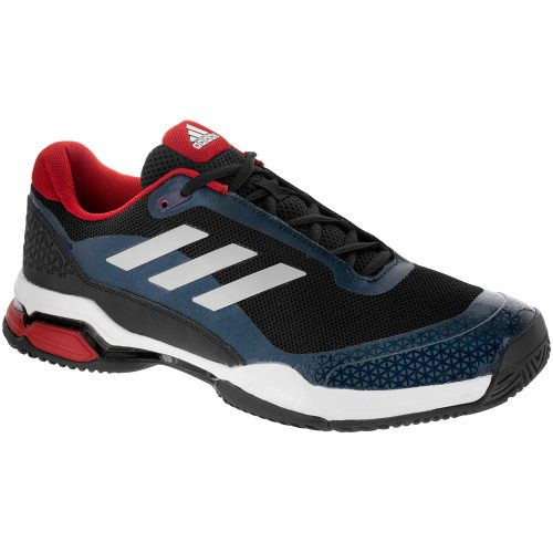 adidas Barricade Club: adidas Men's Tennis Shoes Core Black/Metallic Silver/White