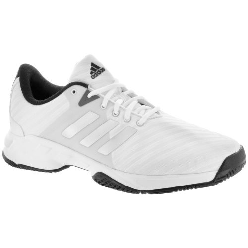 adidas Barricade Court Wide: adidas Men's Tennis Shoes White/Matte Silver/Scarlet