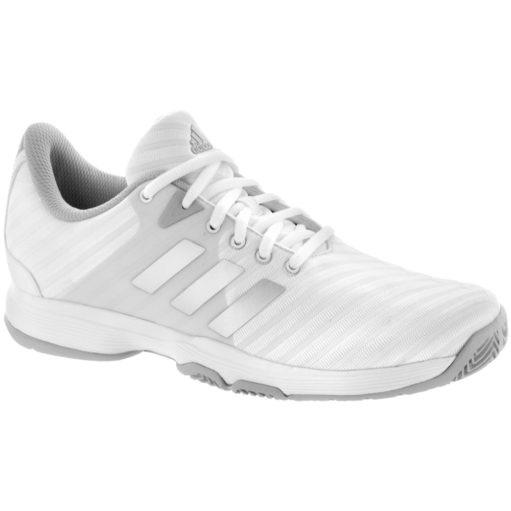 adidas Barricade Court: adidas Women's Tennis Shoes White/Matte Silver/Grey
