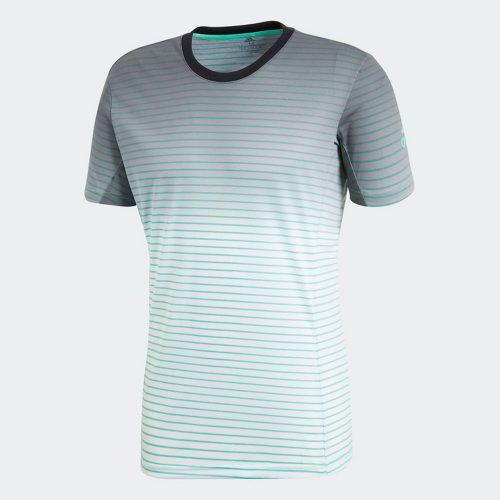 adidas Melbourne Striped Tee: adidas Men's Tennis Apparel